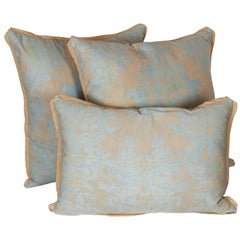 A Set of Fortuny Fabric Cushions in the Dandolo Pattern