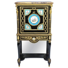 19th Century Sevres Mounted Secretaire Abattant Cabinet