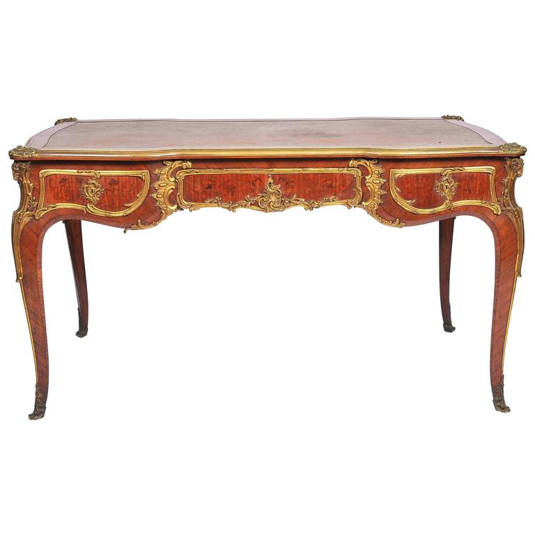 louis xv style bureau plat by zweiner for sale at 1stdibs