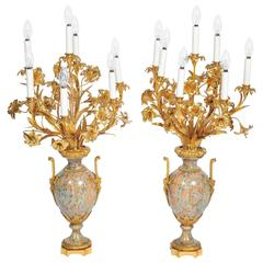Important Pair of 'Millet' Louis XV Style Candelabra