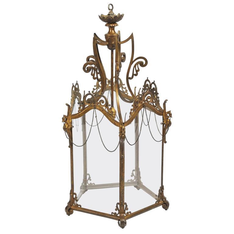 19th Century French Ormolu Lantern
