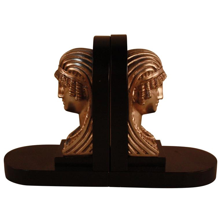 Egyptian Revival Art Deco Bookends For Sale