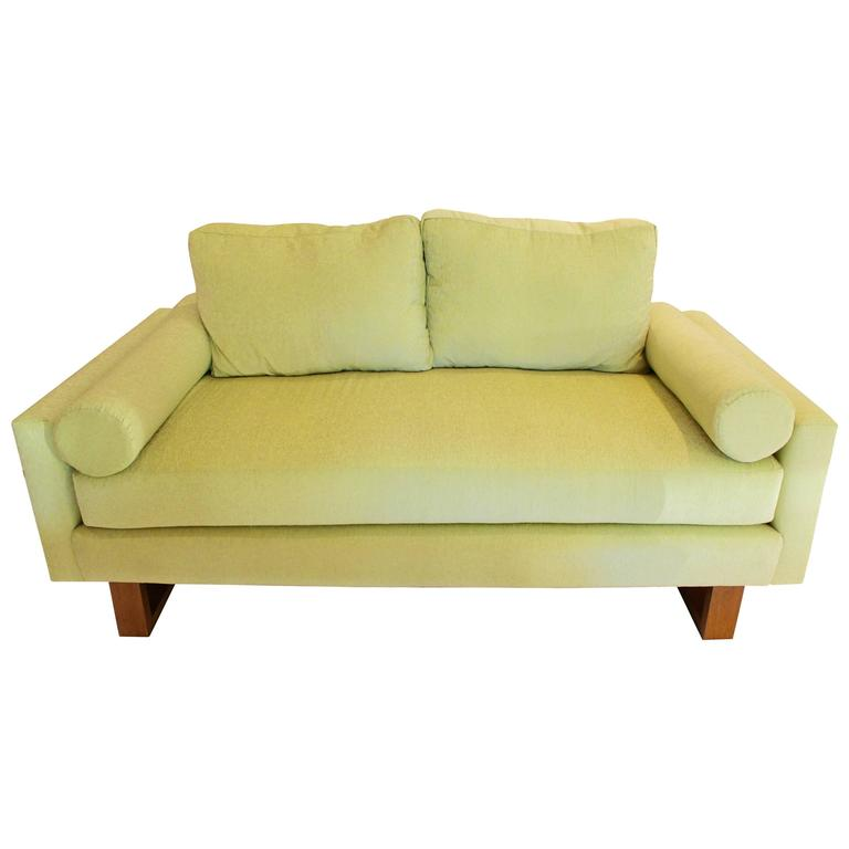 Mid century green lime sofa for sale at 1stdibs for Lime green sofa