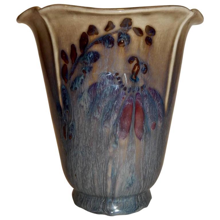 Floral Pattern Rookwood Vase 1946 Loretta Holtkamp For Sale At 1stdibs