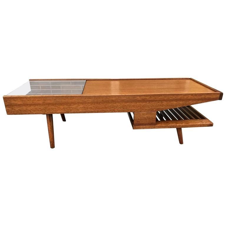 John Keal Mahogany Expanding Coffee Table By Brown Saltman For Sale At 1stdibs
