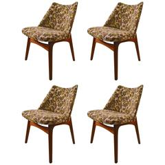 Set of Four Pearsall Dining Chairs