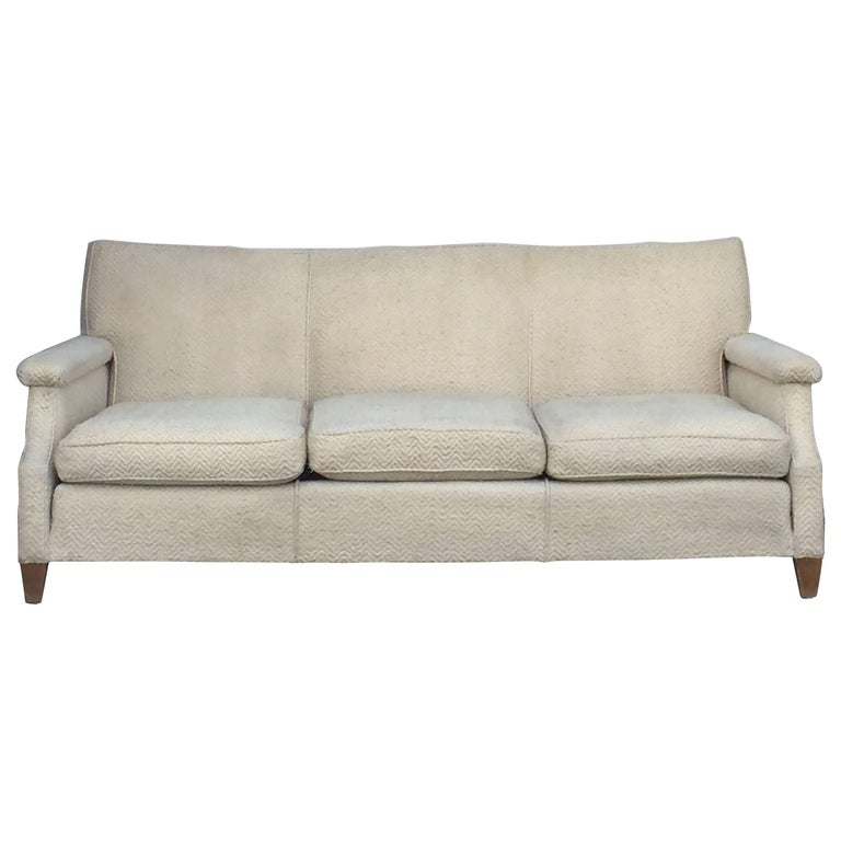 Chic Large French 1950s Sofa by Maison Leleu For Sale