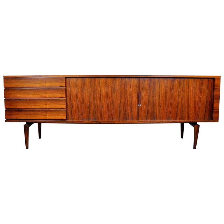 H.W. Klein for Bramin Rosewood Credenza Bar For Sale