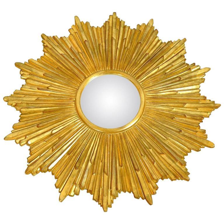 Carvers Guild Loretto Giltwood Sunburst Convex Mirror 1
