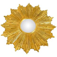 Carvers Guild Loretto Giltwood Sunburst Convex Mirror