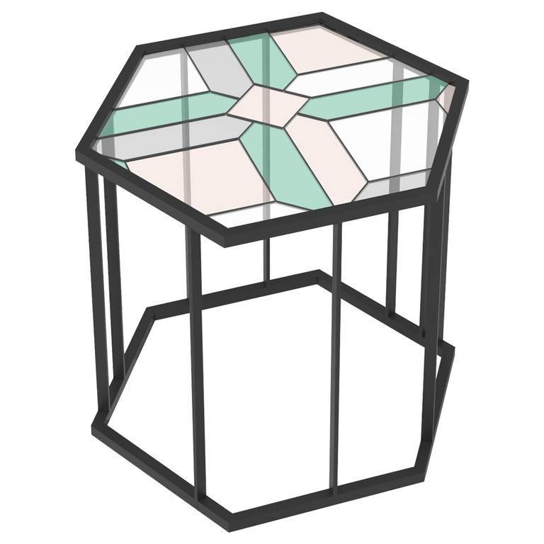 Stained Glass Coffee Table Santissimi Ii Serena Confalonieri For Sale At 1stdibs