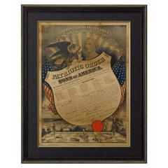 """1889 """"Patriotic Order Sons of America"""" Pennsylvania Document"""