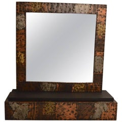 Paul Evans Brutalist Mirror and Shelf