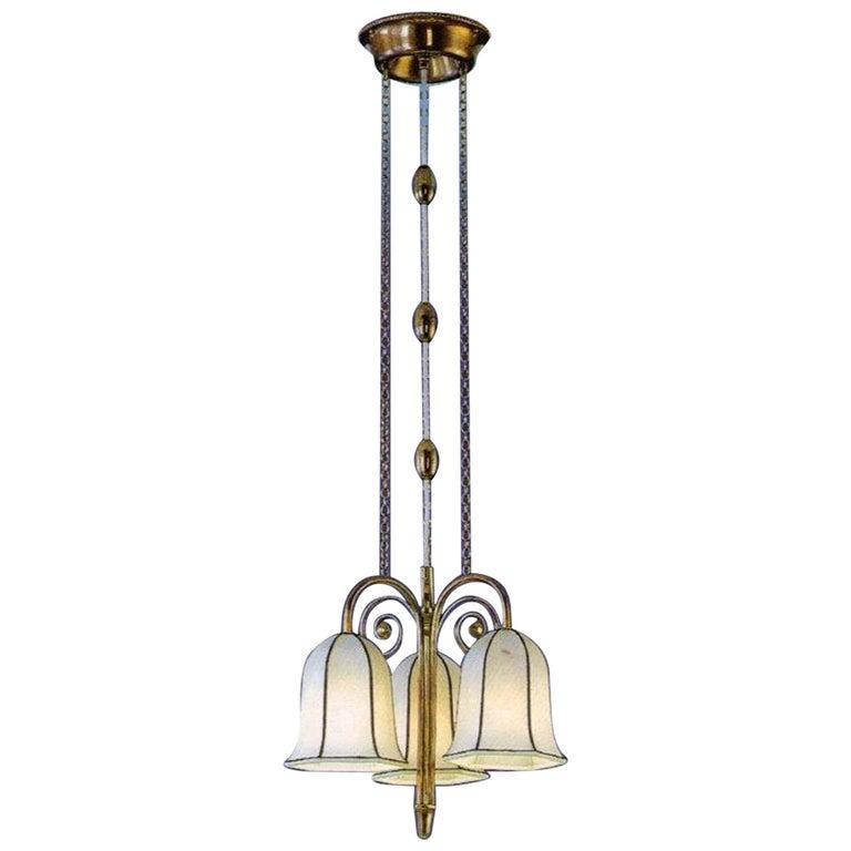 Josef Hoffmann-Wiener Werkstaette 20th Century 1908 Ceiling Lamp Woka Lamps Vie. For Sale