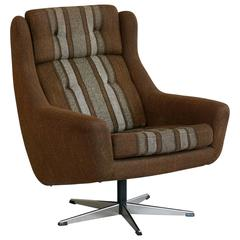 Danish Mid-Century Lounge Chair with Swivel Base by Erhardsen & Andersen