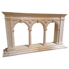 Modern Limestone Architectural Console