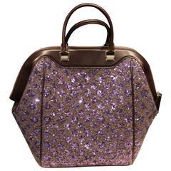 "Louis Vuitton Limited Edition ""North South"" Sunshine Express Purple Bag"