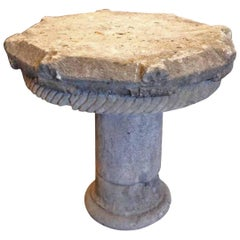 Mid 15th Century French Limestone Garden Table