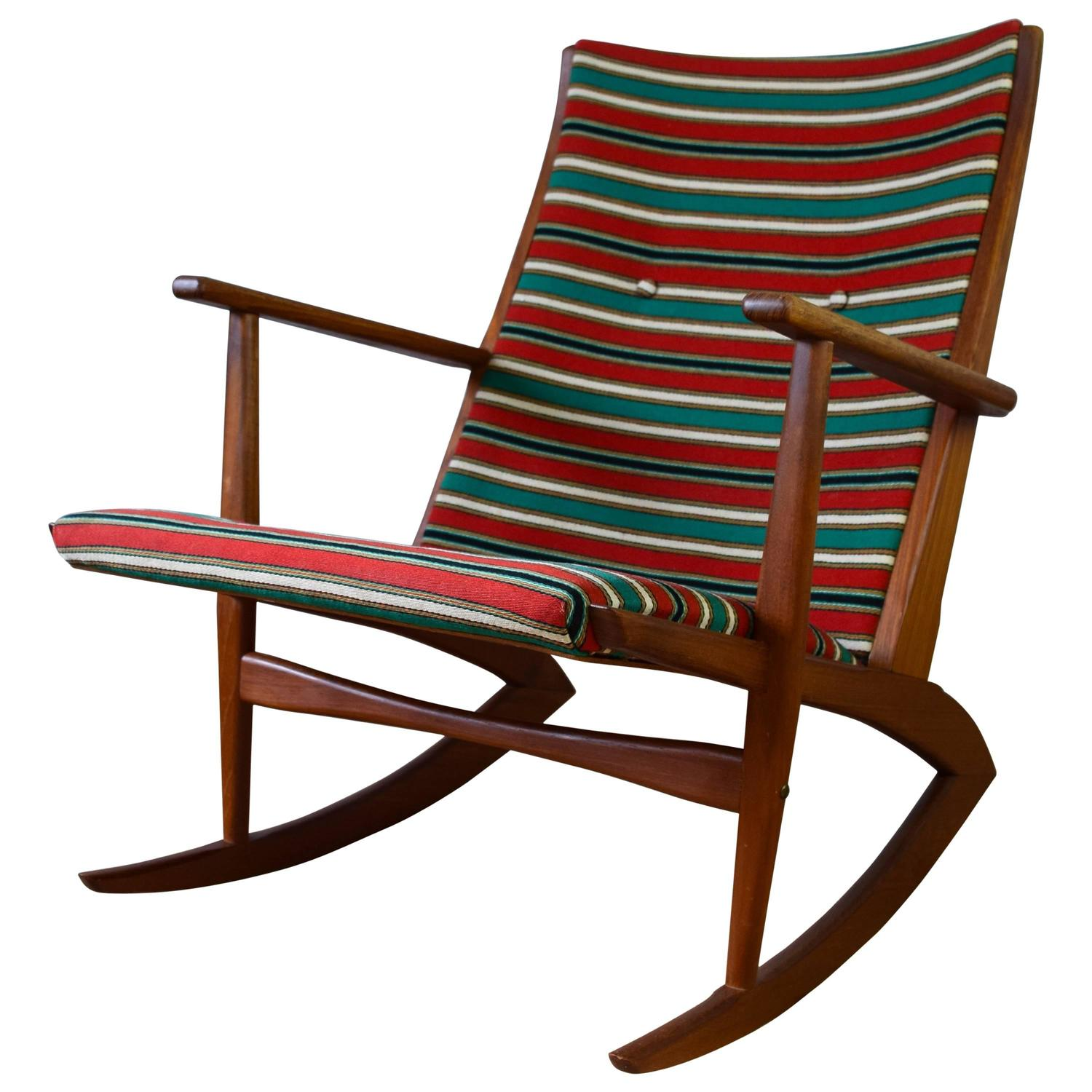 Folding Rocking Chair by Takeshi Nii Japan 1950s For Sale at 1stdibs