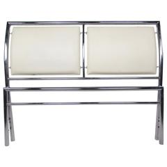 Contemporary Modern Chrome Headboard for Queen-Size Bed