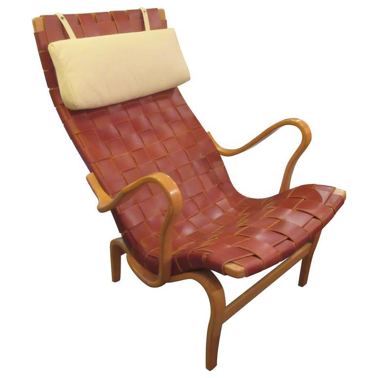 Bruno Mathsson High Back Eva Lounge Chair by Karl Mathsson