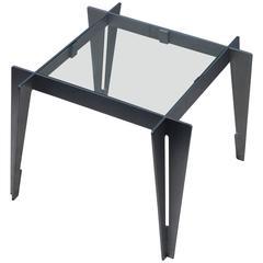 1970s Brushed Steel Interlocking Side Table