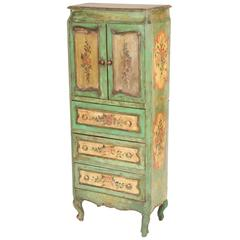 Italian Louis XV Style Painted Cabinet