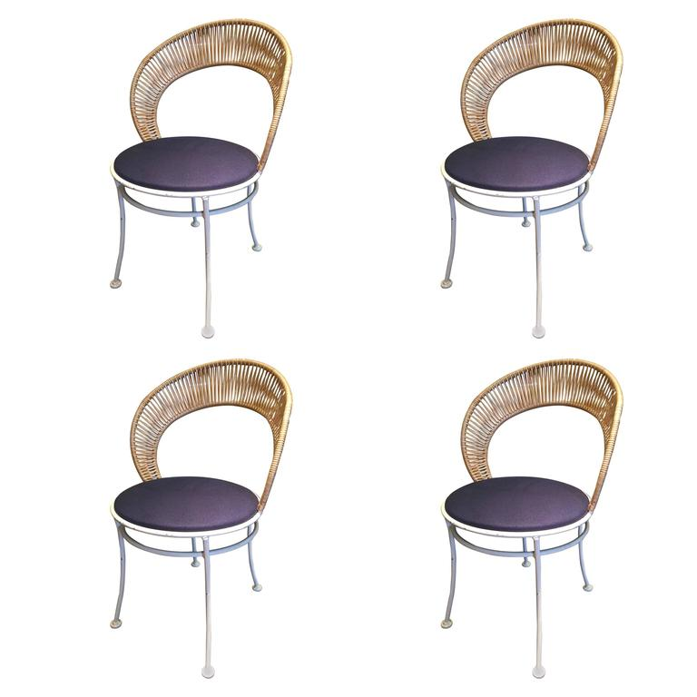 Set Of Four Vintage Patio Chairs At 1stdibs
