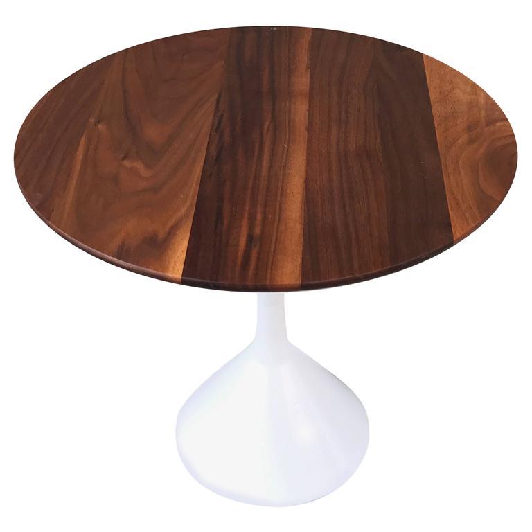 Petite Walnut Modernist Side Table 1
