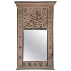 French Neoclassical Style Trumeau Mirror