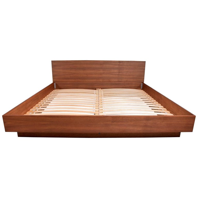 Custom Walnut Bed Made In California By Pablo Romo For
