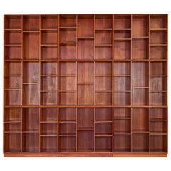 Peter Hvidt Modular Wall of Bookcases
