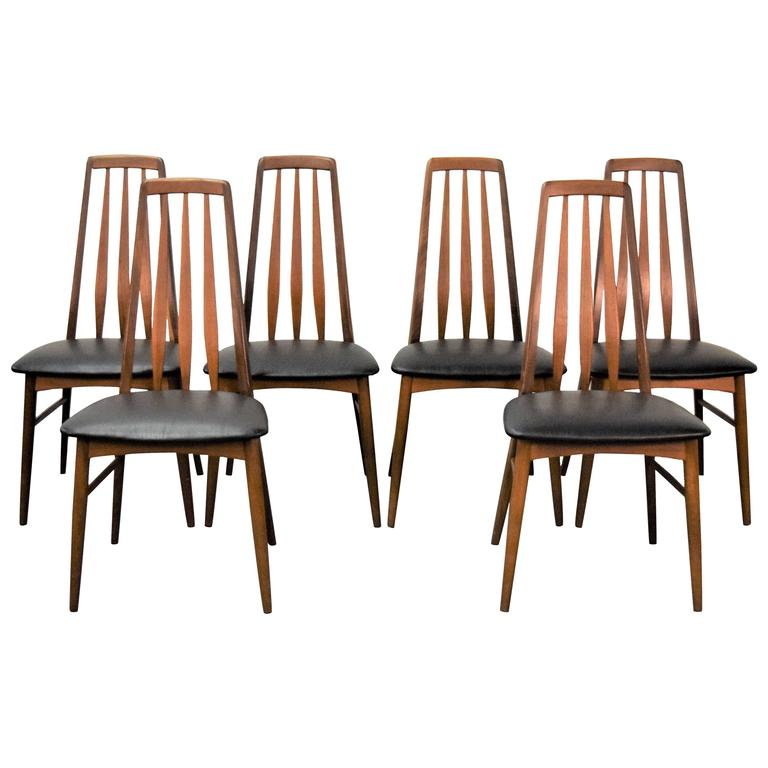 Astounding Set Of Six Eva Dining Chairs By Niels Koefoed Creativecarmelina Interior Chair Design Creativecarmelinacom