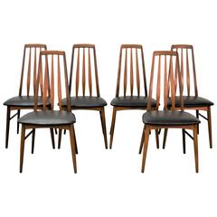 Set of Six 'Eva' Dining Chairs by Niels Koefoed