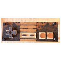 Handcrafted Nintendo Video Game Controller Low Rectangular Wooden Coffee Table