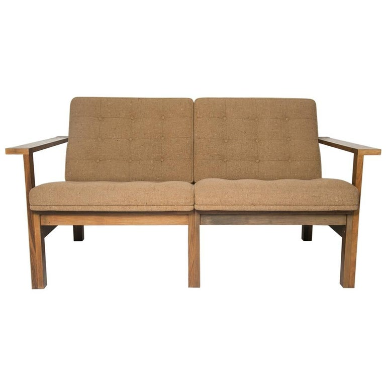Moduline Rosewood Sofa Love Seat For Sale