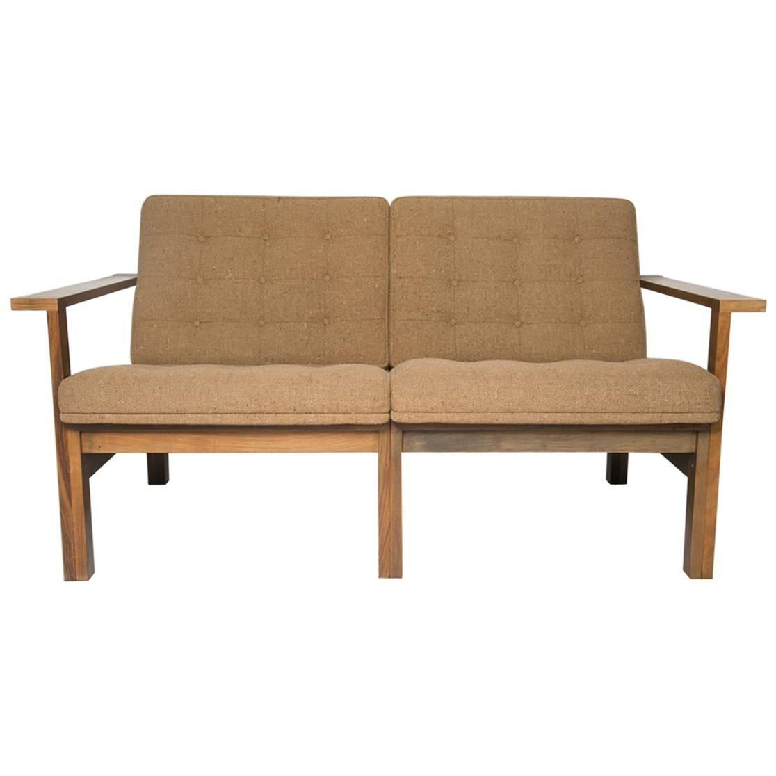 moduline rosewood sofa love seat for sale at 1stdibs. Black Bedroom Furniture Sets. Home Design Ideas