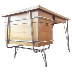 Mid-Century Modern Trimline Desk by KEM Weber for Heywood Wakefield