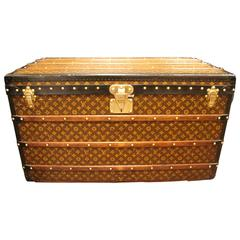 1930s Louis Vuitton Monogram Canvas Courrier Steamer Trunk,Malle Louis Vuitton