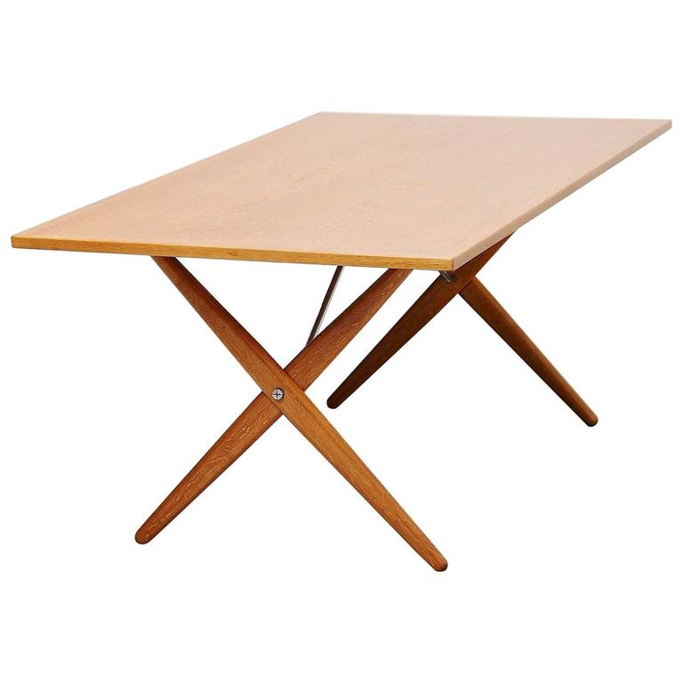 Hans Wegner AT 303 Sawhorse Table Andreas Tuck Denmark 1955 For Sale