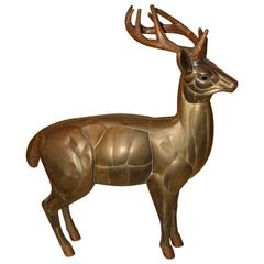 Sergio Bustamante Deer Sculpture, Signed, 1970s