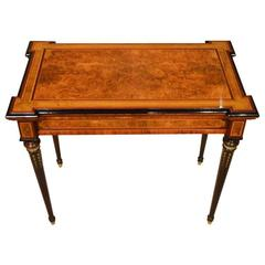 Fine Quality Burr Walnut, Purple Heart, Sycamore and Kingwood Victorian Period