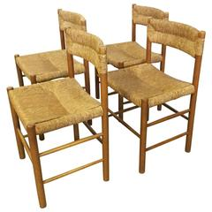 Set of Four Chairs by Charlotte Perriand