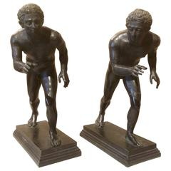 Grand Tour Bronzes of Wrestlers after the Roman Originals