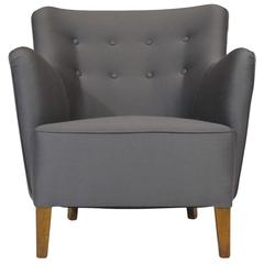 Birte Iversen for A.J. Iversen Lounge Chair in Grey