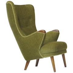 1950s Schiller Highback Danish Lounge Chair