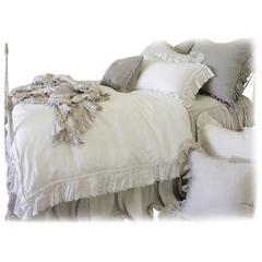 Pure Irish Linen Bedding Vintage Ruffle Duvet Cover