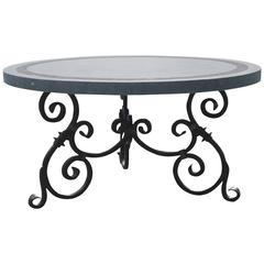 Round Belgian Bluestone Table