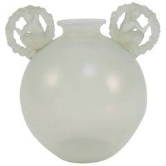 "Rene Lalique ""Ronsard"" Opalescent Vase, 1926"