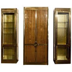 Mastercraft Storage and Display Cabinet Trio, 1982